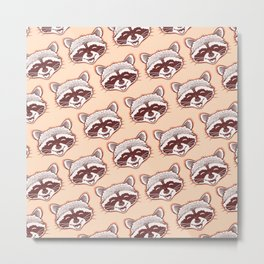 Happy raccoon Metal Print