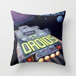Droids - Star Peace Throw Pillow