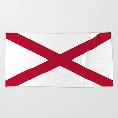 Flag of Alabama-Alabaman,south,birmingham,Montgomery,Jazz,blues,countryside,bible belt,cotton,usa,us Beach Towel