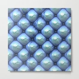 Silky reflection, blue Metal Print