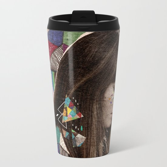 Françoise Hardy Metal Travel Mug
