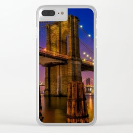 New York 20 Clear iPhone Case