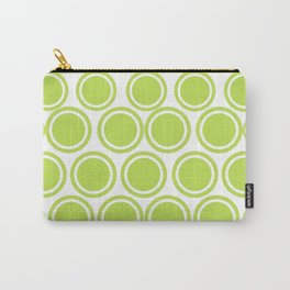 Green Circles on White Carry-All Pouch