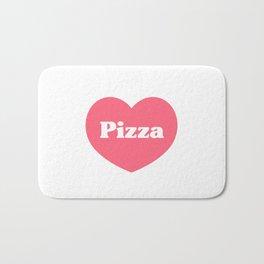 Heart Pizza Bath Mat