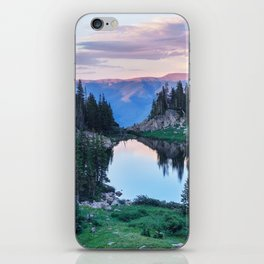 Hikers Bliss Perfect Scenic Nature View \ Mountain Lake Sunset Beautiful Backpacking Landscape Photo iPhone Skin