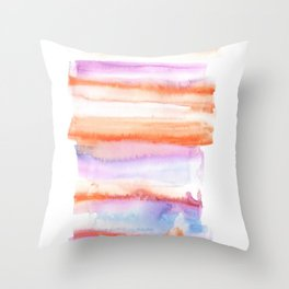171122 Self Expression 4 | Abstract Watercolors Throw Pillow
