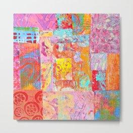 Paper Patchwork Metal Print