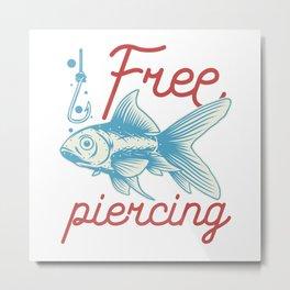 Beach Fun - Coral Reef - Piercing Metal Print
