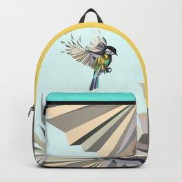 Flying Songbird Cyanistes Caeruleus Blue Tit Bird Backpack