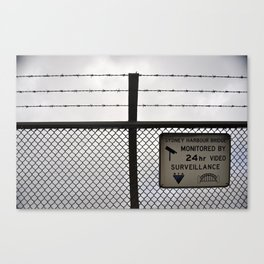 Barbed wire love Canvas Print