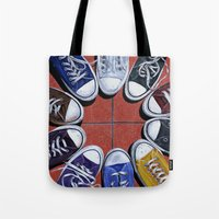 shoes Tote Bags featuring Shoes by Giorgio Arcuri