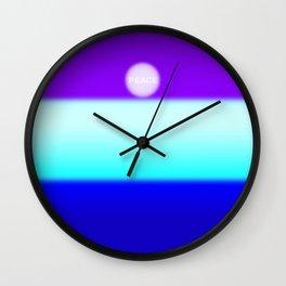 uksteffie1-PEACE Wall Clock