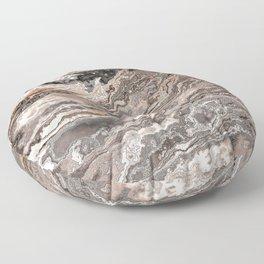 Brown Marble Texture Floor Pillow