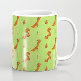 Red Squirrel Pattern Coffee Mug