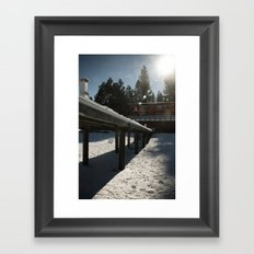 Boathouse in the Winter Framed Art Print