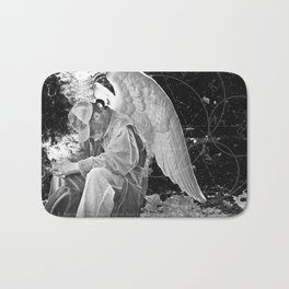 A Very Old Man with Enormous Wings Bath Mat
