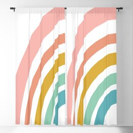 Simple Happy Rainbow Art Blackout Curtain