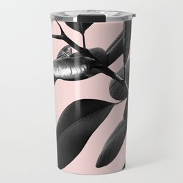 Ficus Elastica Blush Black & White Vibes #1 #foliage #decor #art #society6 Travel Mug