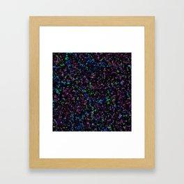 Black Light Color Spray Framed Art Print