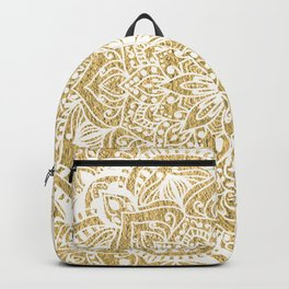 NATURE DETAILS MANDALA IN GOLD Backpack