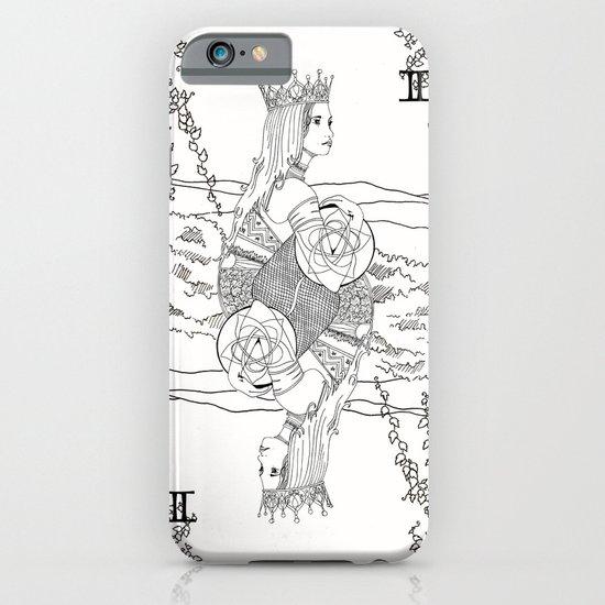 The Queen (Twins) - Black/White iPhone & iPod Case