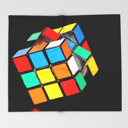 Rubik's cube Throw Blanket