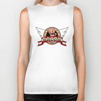 bacon Biker Tanks featuring Bacon by maiconmcn