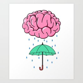 Problem Solving or Brainstorming Tshirt Design Brainstorm umbrella Art Print