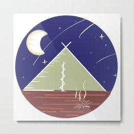 Camping Under the Stars / Nature Camping Trip Metal Print