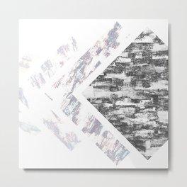 Cubed Sides   Minimalist   Abstract   Modern   Shapes   Geometrix Metal Print