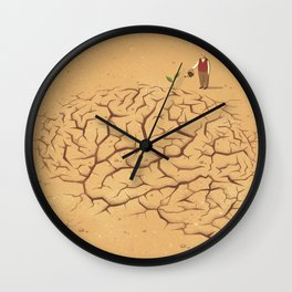 Dry Brain Wall Clock