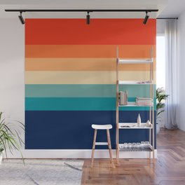 7 Colorful Retro Summer Stripes Bamola Wall Mural