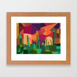 Botanical Wonderland - Cactus Garden Bybrije Framed Art Print