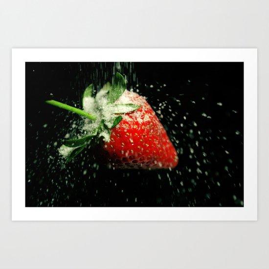 Strawberry Showered in Sugar! Art Print