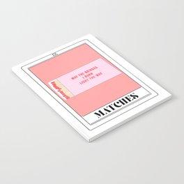 the matches tarot card Notebook