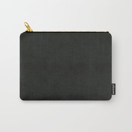 Black Leather Carry-All Pouch