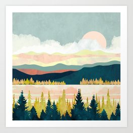 Lake Forest Art Print