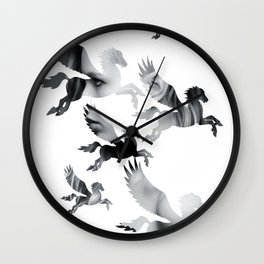 Facing Pegasus Wall Clock
