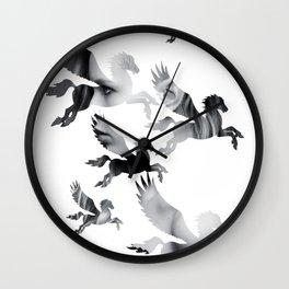 Facing Pegasus Wall Clock