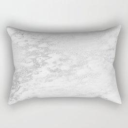 Light Grey Marble Silver Glitter Gray Rectangular Pillow