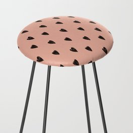 Black hearts Counter Stool