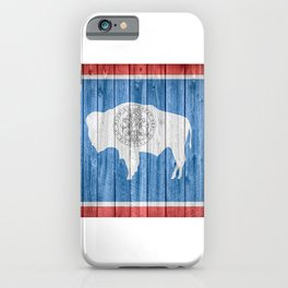Wyoming Flag Barn Wall Gifts iPhone Case