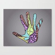 Doodle Hand (color) Canvas Print