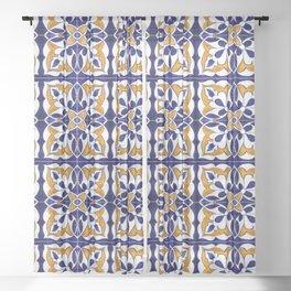 Talavera Mexican Tile Sheer Curtain