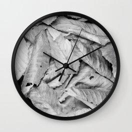 Boxed Organics - Leaves Wall Clock