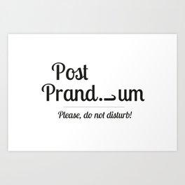 Post prandium Art Print
