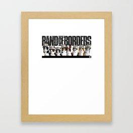 Band of Borders - Snow Framed Art Print