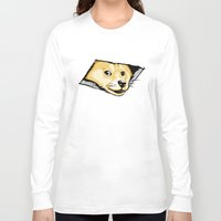 doge Long Sleeve T-shirts featuring Ceiling Doge by Jimiyo
