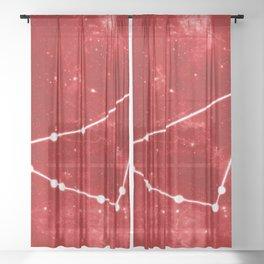 CAPRICORN (ZODIAC CONSTELLATIONS) Sheer Curtain