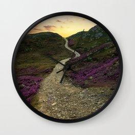 Sunset at Skye Island Wall Clock